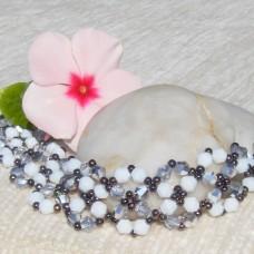 Chic Silver White and Black Bracelet