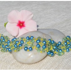 Turquoise, Aqua and Lemon bracelet