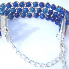 Blues in a Row Bracelet