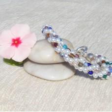 Multi Czech Crystal Spiral Bracelet