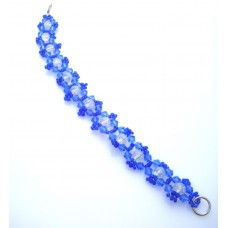 Blue and Clear Crackle Bracelet