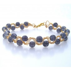 Grey and Gold Zig Zag Bracelet
