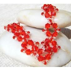 Red Bicone Swarovski Crystal Bracelet