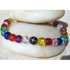 Multi Crackle Glass Bracelet