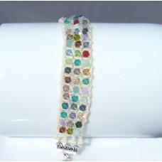 Glittery Swarovski Crystal Bicone Bead Bracelet