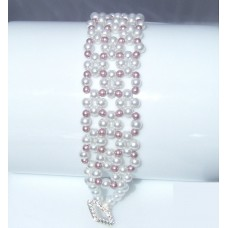 Wide Pretty Pearl Beaded Bracelet