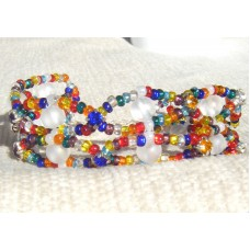 Multi Wave Beaded Bracelet with Frosted Beads
