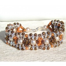 Autumn Fall Coloured Bead Bracelet