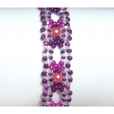 Lace Effect Metallic Beaded Bracelet