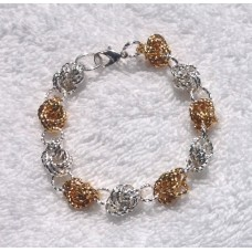 Silver and Gold Knot Bracelet