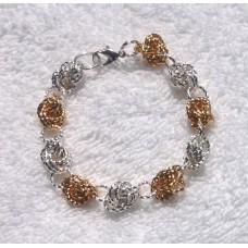 Silver and Gold Knot Bracelet