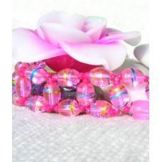 Pink Oval Bead Bracelet