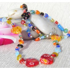 Millefiori Hearts Necklace