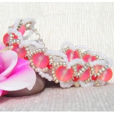 Pretty Pink Criss Cross Bracelet