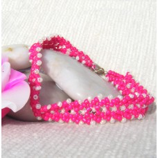 Pretty Pink Herringbone Bracelet