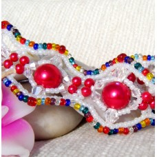 Colourful Wavy Cuff Bracelet