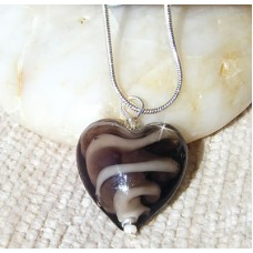 Glass Lampwork Heart Pendant