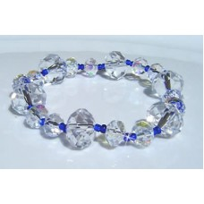 Clear and Blue Bracelet