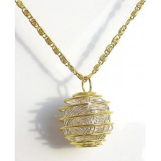 Gold and Silver Caged Pendant