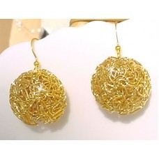 Gold Plated Wire Earrings