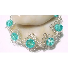 Blue Swarovski Crystal Curly Bracelet