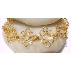 Gold Curly Bracelet