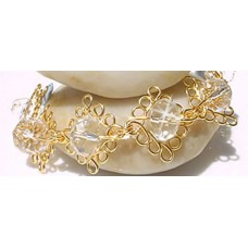 Swarovski Crystal Gold Curly Bracelet