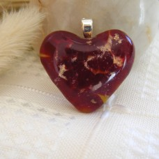 Red Gold and Yellow Heart 3cm x 3cm