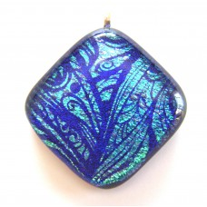 Blue Etched Fairy Wings 3.5cm x 3.5cm