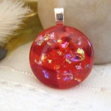 Red Sparkly Circle 2.5 x 2.5 cm