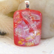 Multi Texture Dichroic on Red 3cm x 2cm