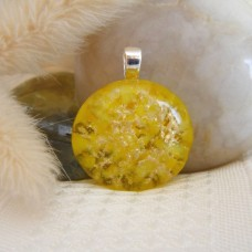 Sparkly Yellow Circle 2.5 x 2.5 cm