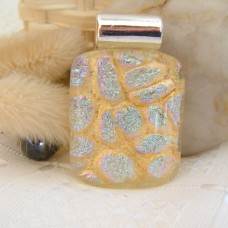 Silver and Gold Dichroic 3.5cm x 2.5cm