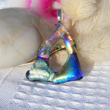 Autumn Rainbow Handmade Dichroic Pendant
