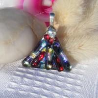 Magnify Fan Handmade Dichroic Glass Pendant