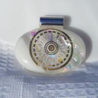 Golden Eye Dichroic Handmade Glass Pendant