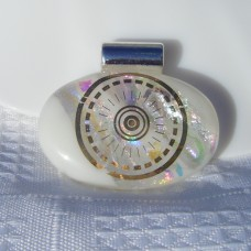 Golden Eye Dichroic Handmade Glass Pendant
