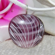 Purple Lampwork Handmade Glass Pendant
