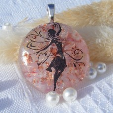 Fairy Magic Dichroic Glass Pendant Necklace