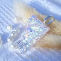 Fan Handmade Dichroic Glass Pendant ID629