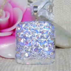Sparkly Shimmering Handmade Dichroic Glass Pendant