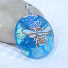 Manchester Bee Dichroic Glass Pendant Necklace Jewellery