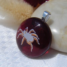 Red Spider Handmade Dichroic Glass Pendant Necklace Jewellery