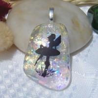 Floating Rainbow Fairy Handmade Pendant