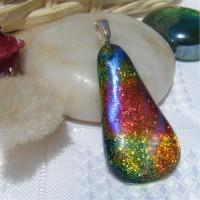 Beautiful Shimmering Rainbow Floating Teardrop