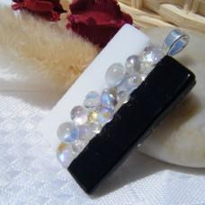 Dichroic Bubble Handmade Dichroic Glass Pendant Necklace