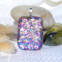 Sea of Colours Dichroic Pendant Necklace