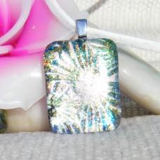 Florentine Glitter Handmade Dichroic Glass Pendant