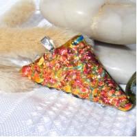 Shimmering Sparkling Handmade Dichroic Glass Pendant