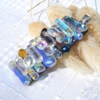 Aurora borealis Handmade Dichroic Glass Pendant